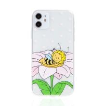Kryt včelka Mája - pro Apple iPhone - 11 - gumový - průhledný - zasněná Mája