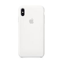 Originální kryt pro Apple iPhone Xs Max - silikonový - bílý