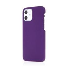 Kryt pro Apple iPhone 12 / 12 Pro - plastový - měkčený povrch - fialový