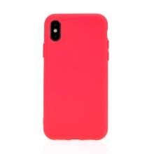 Kryt pro Apple iPhone X / Xs - příjemný na dotek - silikonový - růžový