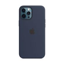 Originální kryt pro Apple iPhone 12 Pro Max - silikonový - námořnicky tmavomodrý