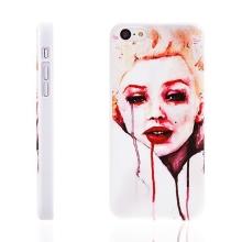 Plastový kryt pro Apple iPhone 5C - malovaná Marilyn Monroe - bílý