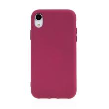 Kryt pro Apple iPhone Xr - příjemný na dotek - silikonový - tmavě červený