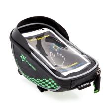 Sportovní pouzdro na kolo / koloběžku ROCKBROS - na představec pro Apple iPhone - černé / zelené