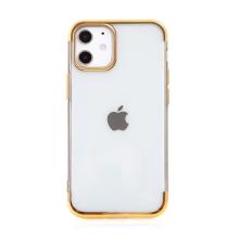 Kryt FORCELL Electro pro Apple iPhone 12 mini - gumový - průhledný / zlatý