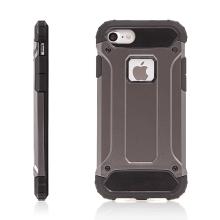 Kryt pro Apple iPhone 7 / 8 plasto-gumový / antiprachová záslepka - bronzový / hnědý