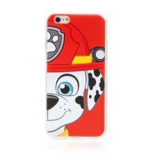 "Kryt ""Tlapková patrola"" pro Apple iPhone 6 / 6S - gumový - hasič Marshall"