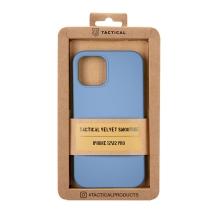 Kryt TACTICAL Velvet Smoothie pro Apple iPhone 12 / 12 Pro - příjemný na dotek - silikonový - tmavě modrý