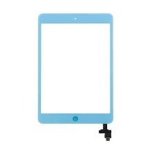Dotykové sklo (touch screen digi) + IC konektor a flex s Home Buttonem pro Apple iPad mini / mini 2 (Retina) - světle modré