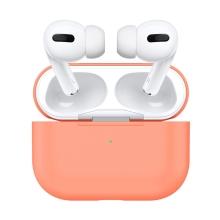 Pouzdro pro Apple AirPods Pro - silikonové - papájově oraznžové
