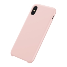 Kryt BASEUS pro Apple iPhone Xs Max - příjemný na dotek - silikonový - růžový