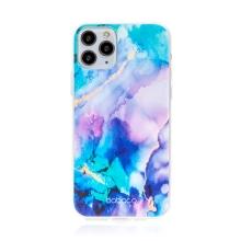Kryt BABACO pro Apple iPhone 11 Pro Max - gumový - mlhovina - růžový / modrý