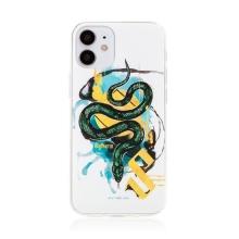 Kryt Harry Potter pro Apple iPhone 12 mini - gumový - had Zmijozelu