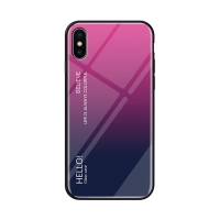 Kryt pro Apple iPhone X / Xs - sklo / guma - růžový