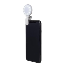 LED selfie světlo / blesk CELLY pro Apple iPhone - bílé