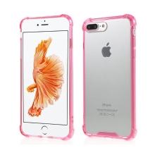 Kryt pro Apple iPhone 7 Plus / 8 Plus - plastový / gumový - průhledný / růžový