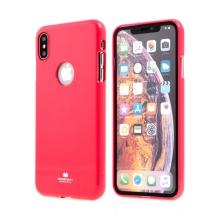 Kryt MERCURY Jelly pro Apple iPhone Xs Max - výřez pro logo - gumový - růžový