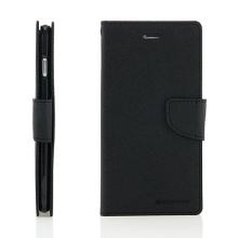Pouzdro Mercury Goospery pro Apple iPhone 6 Plus / 6S Plus - stojánek a prostor pro platební karty - černé