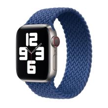 Řemínek pro Apple Watch 44mm Series 4 / 5 / 6 / SE / 42mm 1 / 2 / 3 - bez spony - nylonový - velikost S - světle modrý