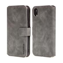 Pouzdro DG.MING pro Apple iPhone Xr - stojánek + prostor pro platební karty - šedé