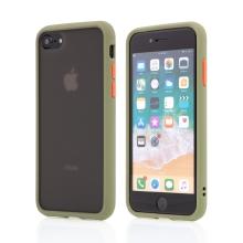 Kryt pro Apple iPhone 7 / 8 / SE (2020) - guma / plast - barevná tlačítka - khaki zelený