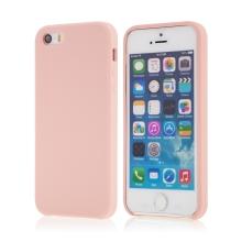 Kryt pro Apple iPhone 5 / 5S / SE - gumový - příjemný na dotek - růžový