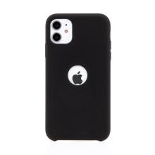 Kryt pro Apple iPhone 11 - gumový - příjemný na dotek - s výřezem pro logo - černý