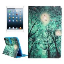 Pouzdro / kryt pro Apple iPad mini / mini 2 / mini 3 / mini 4 - integrovaný stojánek - stromy