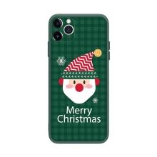 Kryt pro Apple iPhone 12 Pro Max- vánoční - gumový - zelený / Santa Claus