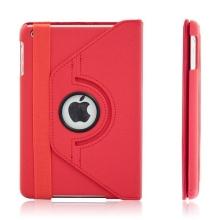 Pouzdro / kryt pro Apple iPad mini / mini 2 / mini 3 - 360° otočný držák - červené