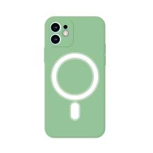Kryt pro Apple iPhone 12 mini - Magsafe - silikonový - zelený