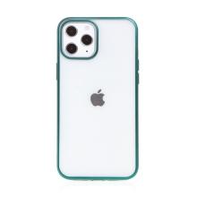 Kryt FORCELL Electro Matt pro Apple iPhone 12 / 12 Pro - gumový - průhledný / zelený