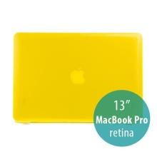 Tenký ochranný plastový obal pro Apple MacBook Pro 13 Retina (model A1425, A1502) - lesklý - žlutý