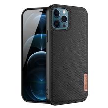 Kryt DUX DUCIS FINO pro Apple iPhone 12 / 12 Pro - látková textura - černý