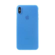 Kryt / obal pro Apple iPhone Xs Max - ochrana čočky - ultratenký - plastový - matný - modrý