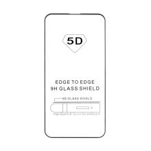 """Tvrzené sklo (Tempered Glass) """"5D"""" pro Apple iPhone 13 / 13 Pro - 2,5D - černý rámeček - čiré - 0,3mm"""