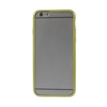 Kryt pro Apple iPhone 6 / 6S - gumový plastový / zelený rámeček - matný průhledný