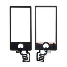 Náhradní sklo s dotykovou vrstvou pro Apple iPod nano 7.gen. (touch screen digitizér) - černé - kvalita A+