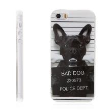 Kryt / obal pro Apple iPhone 5 / 5S / SE - gumový - zlý pes