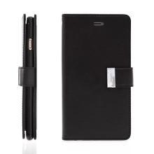 Pouzdro Mercury ve stylu peněženky s magneticky uzavíracím klipem pro Apple iPhone 6 Plus / 6S Plus - černé