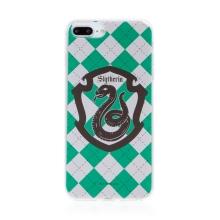 Kryt Harry Potter pro Apple iPhone 7 Plus / 8 Plus - gumový - emblém Zmijozelu
