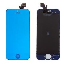 LCD panel + dotykové sklo (touch screen digitizér) + Home Button pro Apple iPhone 5 - pogalvanizovaný povrch - modrý