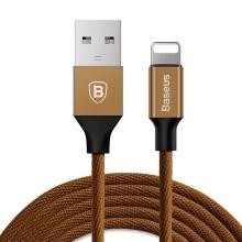 Synchronizační a nabíjecí kabel BASEUS - konektor Lightning pro Apple iPhone / iPad / iPod - hnědý - 3m