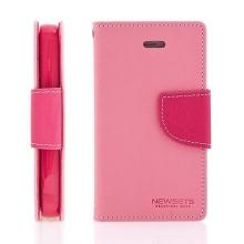 Pouzdro Mercury Fancy Diary pro Apple iPhone 4 / 4S, stojánek a prostor pro platební karty - růžové