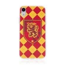 Kryt Harry Potter pro Apple iPhone Xr - gumový - emblém Nebelvíru