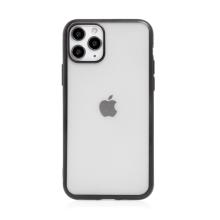 Kryt FORCELL Electro Matt pro Apple iPhone 11 Pro Max - gumový - průhledný / černý