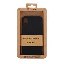 Kryt TACTICAL Velvet Smoothie pro Apple iPhone X / Xs - příjemný na dotek - silikonový - asfaltově černý
