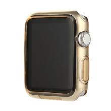 Ultra tenké gumové pouzdro BASEUS pro Apple Watch 38mm (tl. 0,65mm) - průhledné - zlatě probarvené