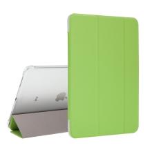 """Pouzdro / kryt pro Apple iPad Pro 11"""" (2018) - funkce chytrého uspání + stojánek - zelené / průsvitná záda"""
