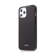Kryt FORCELL Glass pro Apple iPhone 12 mini - gumový / skleněný - černý